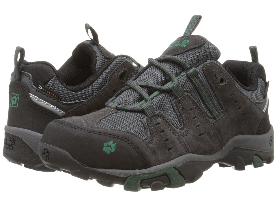 Jack Wolfskin Kids - Mountain Storm Waterproof Low (Big Kid) (Beech Green) Boy's Shoes