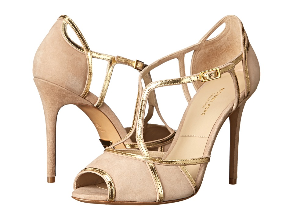 Michael Kors - Caryn (Fawn Kid Suede/Specchio) High Heels
