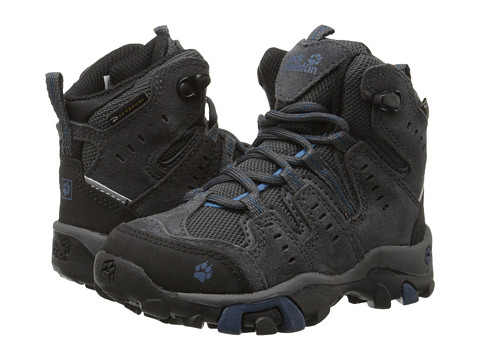 Jack Wolfskin Kids - Mountain Storm Waterproof Mid (Toddler/Little Kid) (Moroccan Blue) Boy's Shoes