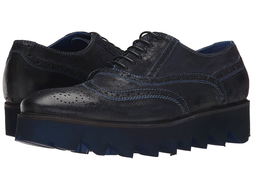 Donald J Pliner - Mach (Navy) Men's Lace up casual Shoes