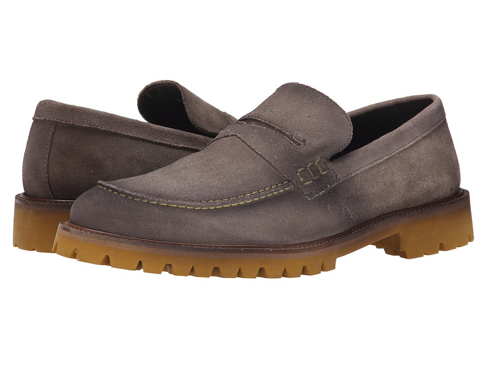 Donald J Pliner - Elton (Gray) Men's Slip on Shoes