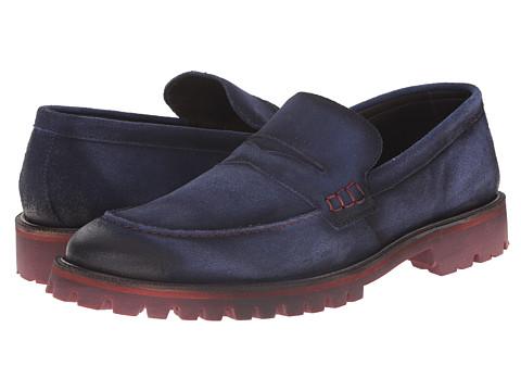 Donald J Pliner - Elton (Navy) Men's Slip on Shoes