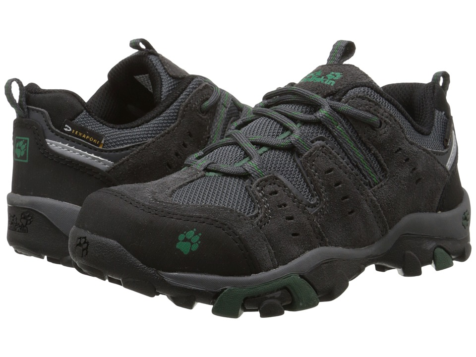 Jack Wolfskin Kids - Mountain Storm Waterproof Low (Little Kid/Big Kid) (Beech Green) Boy's Shoes
