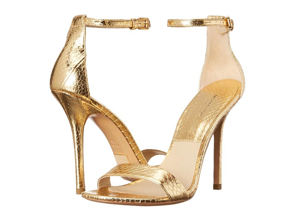 Michael Kors - Jacqueline (Gold Specchio Genuine Snake) High Heels