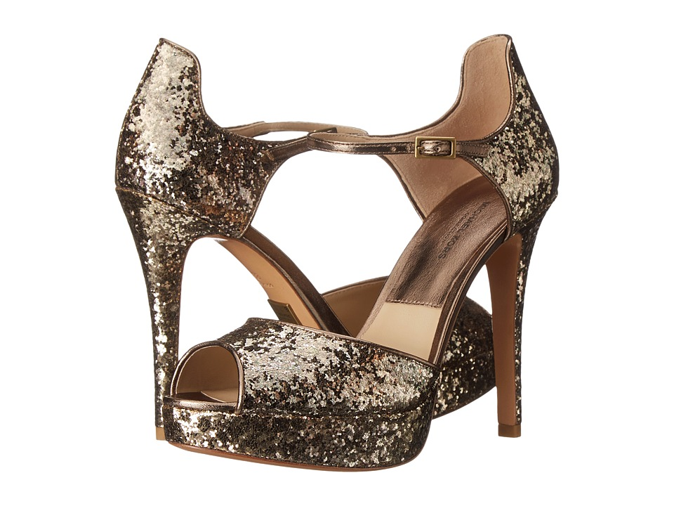 Michael Kors - Kylie (Antique Gold Glitter/Metallic Nappa) High Heels