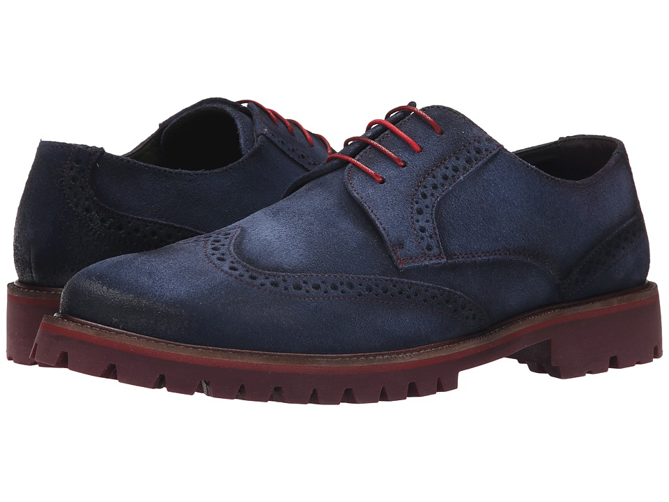 Donald J Pliner - Eric (Navy) Men's Lace up casual Shoes
