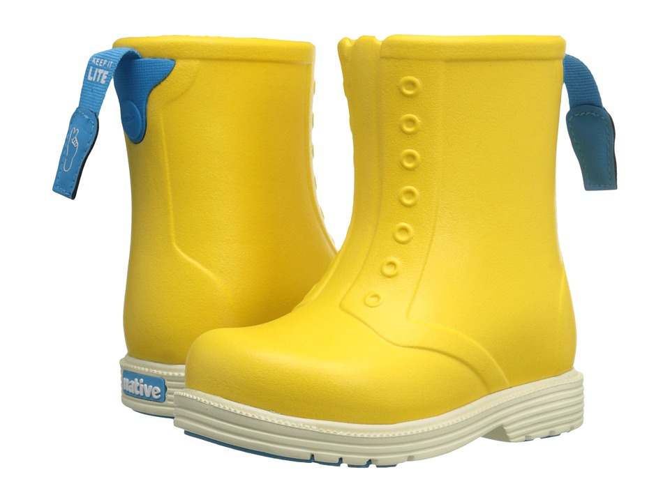 Native Kids Shoes - Sid Boot (Toddler/Little Kid) (Bart Yellow/Bone White) Kids Shoes