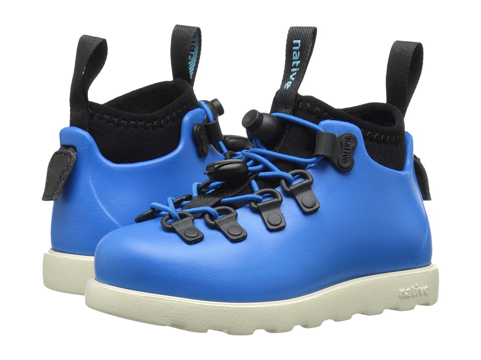Native Kids Shoes - Fitzsimmons (Toddler/Little Kid) (MegaMarine Blue/Bone White) Kids Shoes