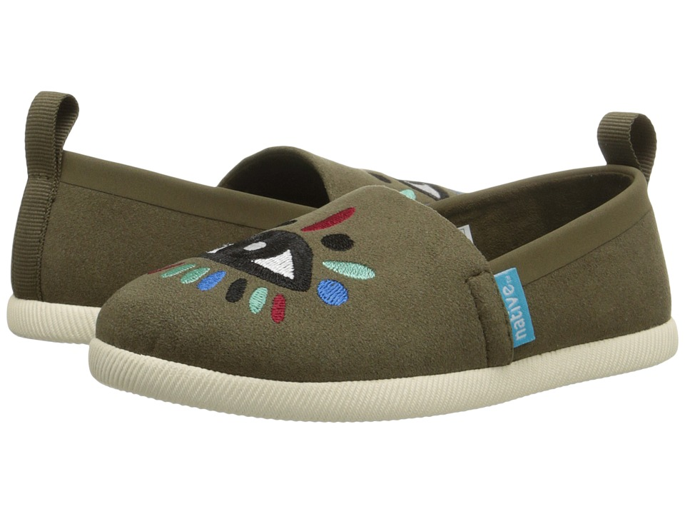 Native Kids Shoes - Venice Embroidered (Toddler/Little Kid) (Utili Green/Bone White/Lyni Eye) Girls Shoes