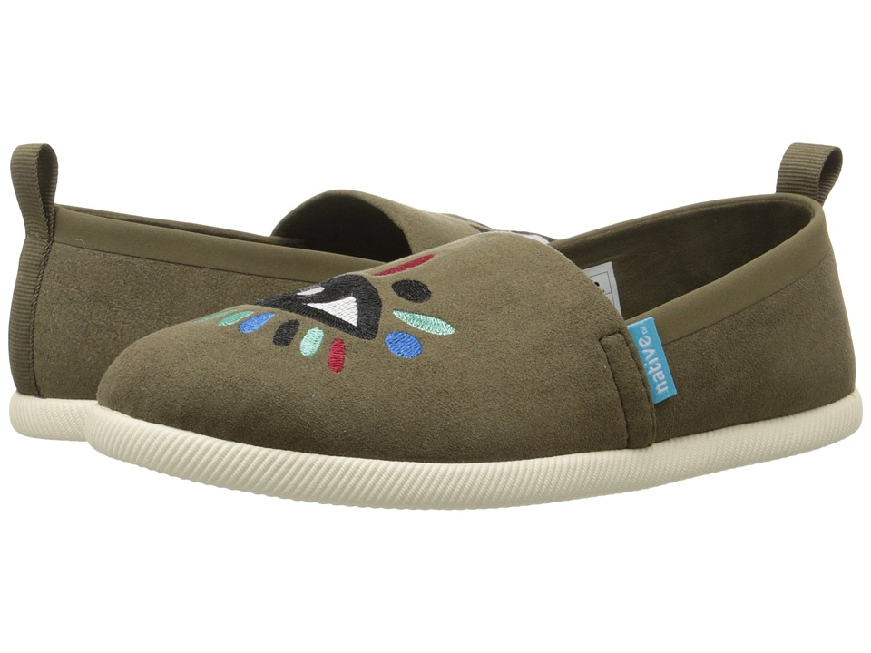 Native Kids Shoes - Venice Embroidered (Little Kid) (Utili Green/Bone White/Lyni Eye) Girls Shoes