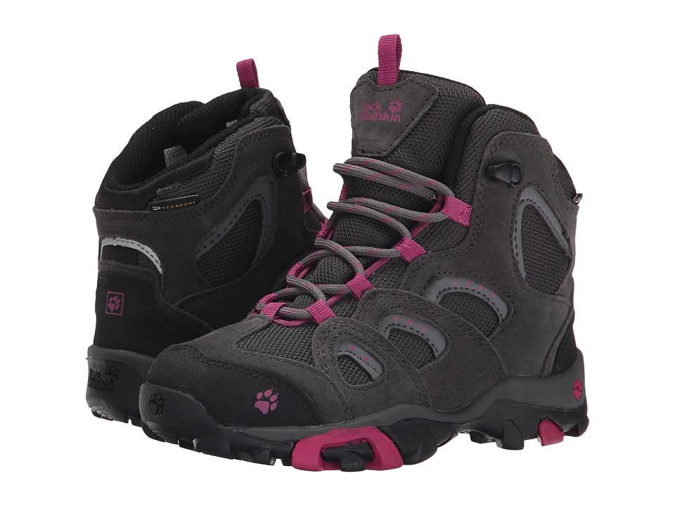 Jack Wolfskin Kids - Mountain Storm Waterproof Mid (Little Kid/Big Kid) (Dark Magenta) Girl's Shoes