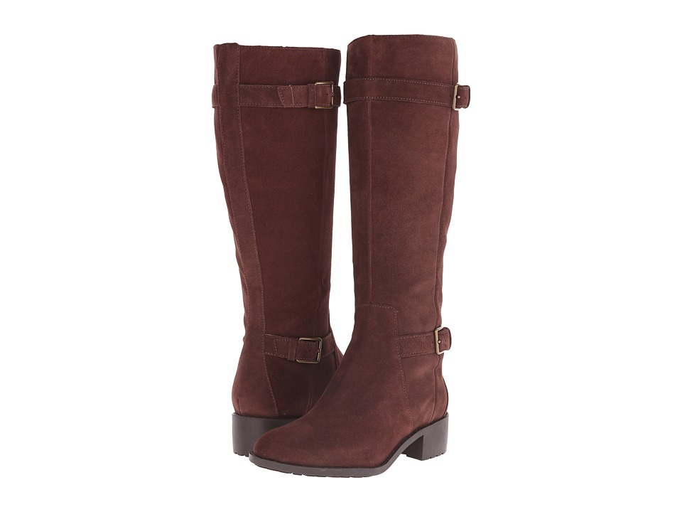 Cole Haan Putnam Waterproof Boot Extended Calf (Chestnut Suede) Women