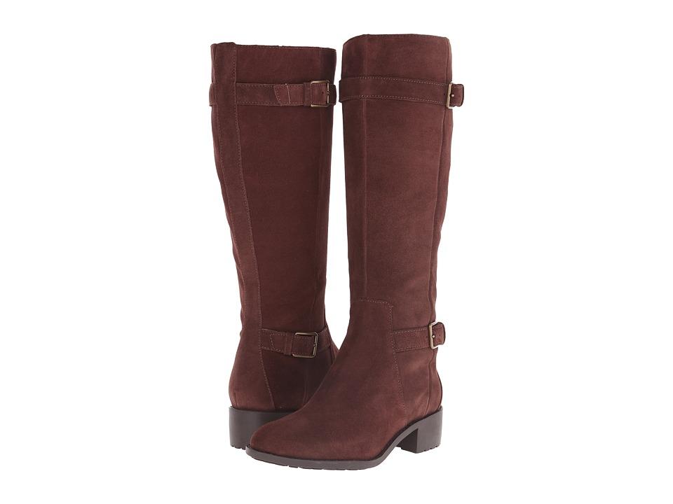 Cole Haan - Putnam Waterproof Boot Extended Calf (Chestnut Suede) Women's Waterproof Boots