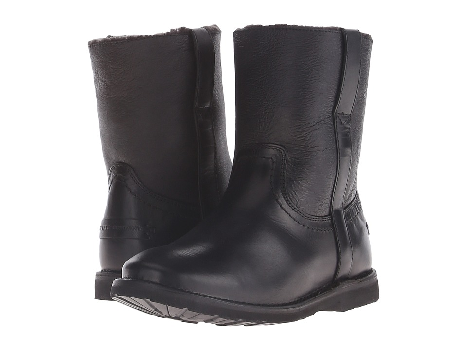 Frye - Celia Shearling Short (Black Smooth Full Grain) Cowboy Boots