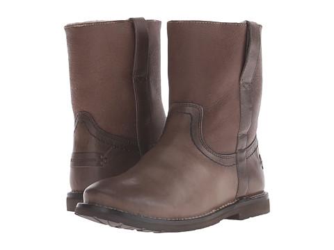 Frye - Celia Shearling Short (Charcoal Smooth Full Grain) Cowboy Boots