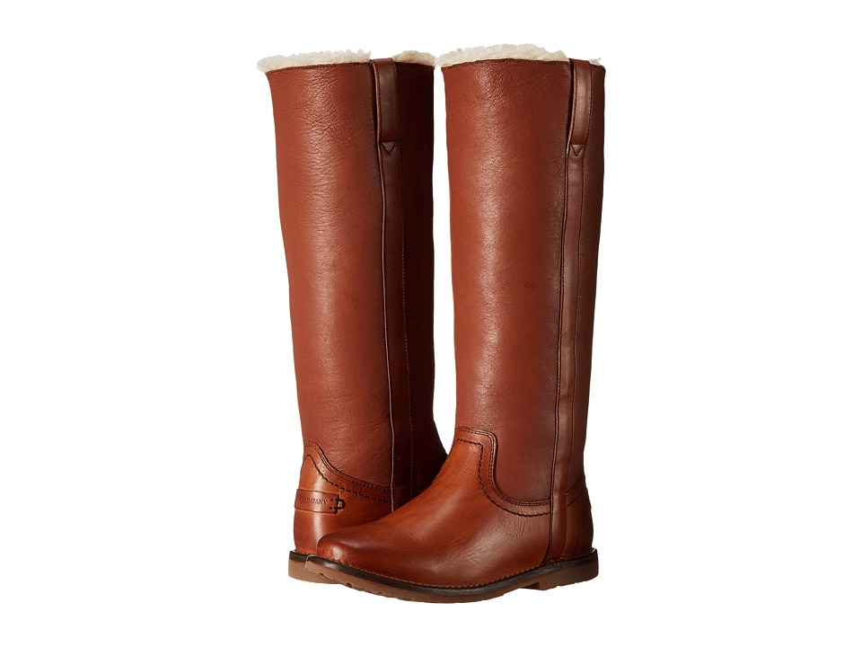 Frye Celia Shearling Tall (Cognac Smooth Full Grain) Women