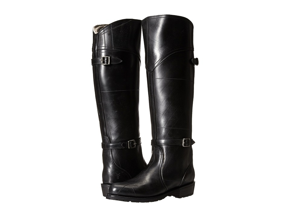 Frye - Dorado Lug Riding (Black Recycled Rubber/Shearling) Women's Pull-on Boots