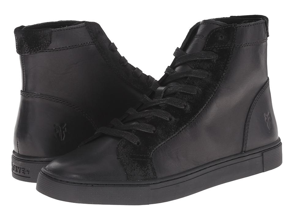 Frye - Gemma High (Black Veg Tan/Oiled Suede) Women's Lace-up Boots