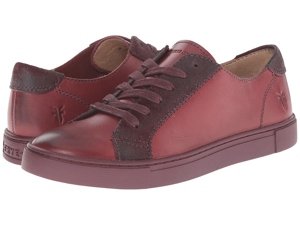 Frye - Gemma Low Lace (Bordeaux Veg Tan/Oiled Suede) Women's Lace up casual Shoes