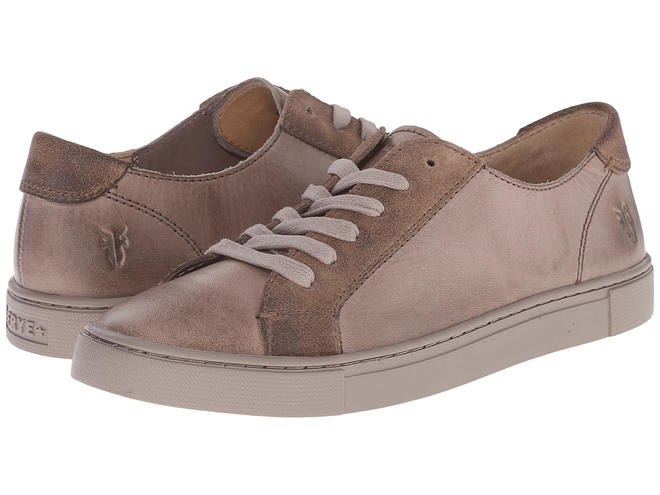 Frye - Gemma Low Lace (Grey Veg Tan/Oiled Suede) Women