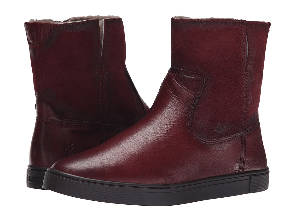 Frye - Gemma Short Shearling (Bordeaux Soft Vintage Leather/Oiled Suede) Cowboy Boots