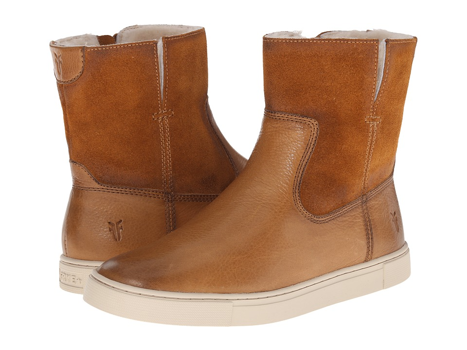 Frye - Gemma Short Shearling (Camel Soft Vintage Leather/Oiled Suede) Cowboy Boots