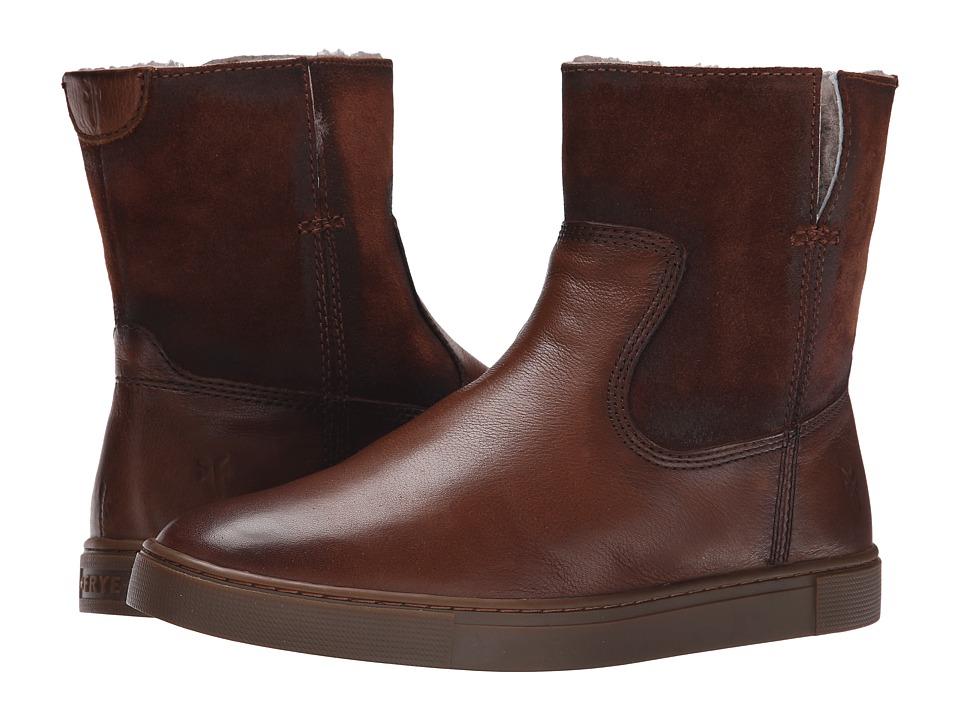 Frye - Gemma Short Shearling (Cognac Soft Vintage Leather/Oiled Suede) Cowboy Boots