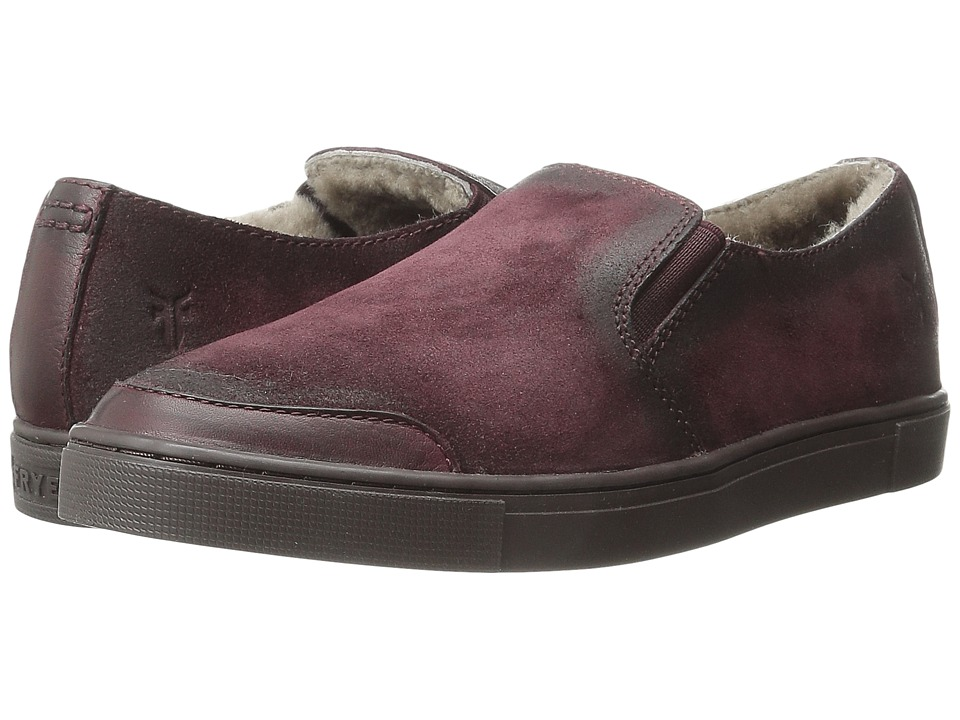 Frye Gemma Slip Shearling (Bordeaux Soft Vintage Leather/Oiled Suede) Women