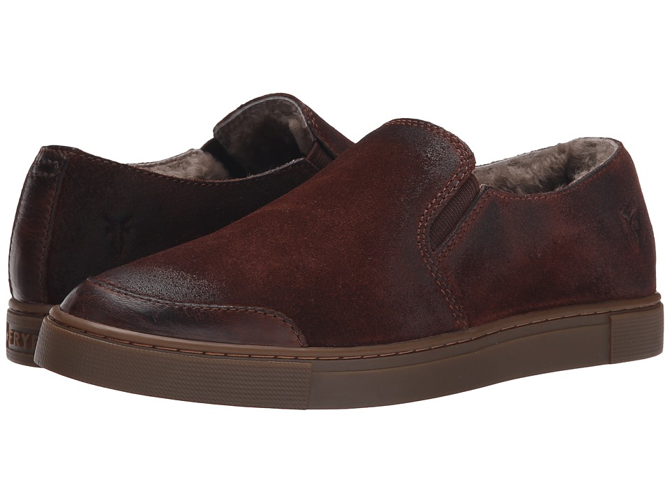 Frye Gemma Slip Shearling (Cognac Soft Vintage Leather/Oiled Suede) Women