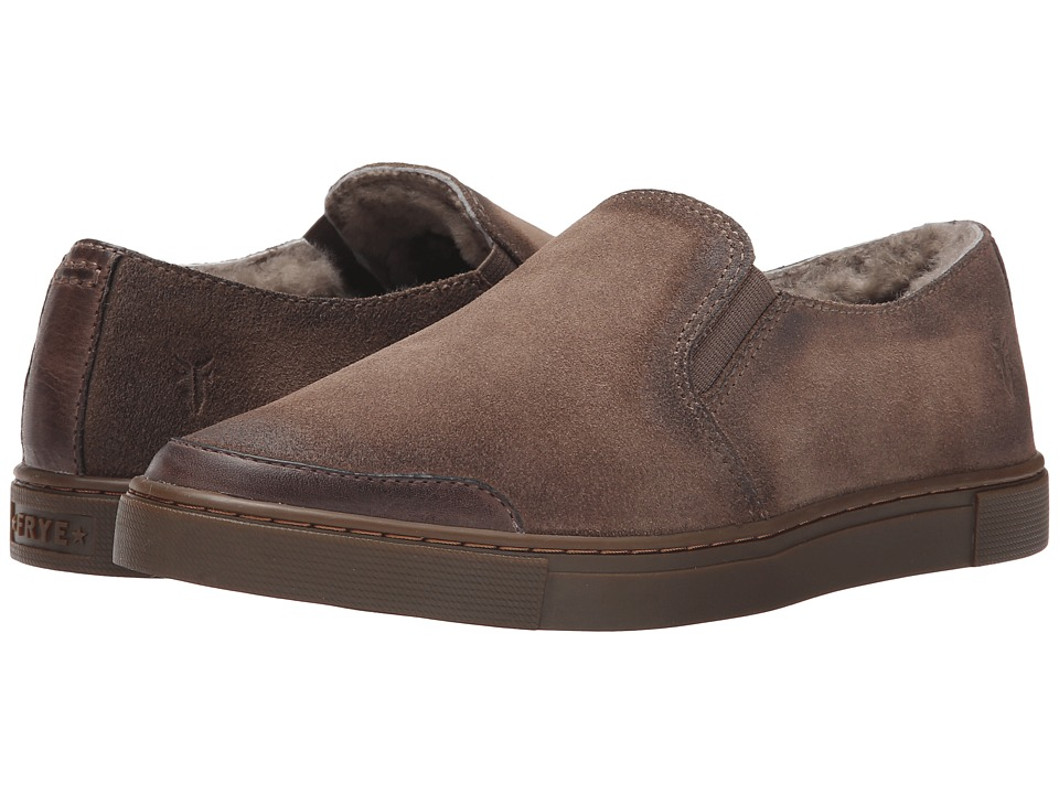 Frye - Gemma Slip Shearling (Grey Soft Vintage Leather/Oiled Suede) Women