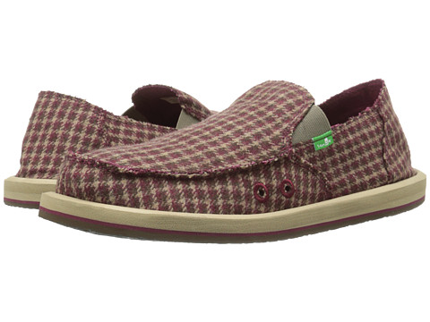 Sanuk - Donny (Brown Hounds) Men's Slip on Shoes