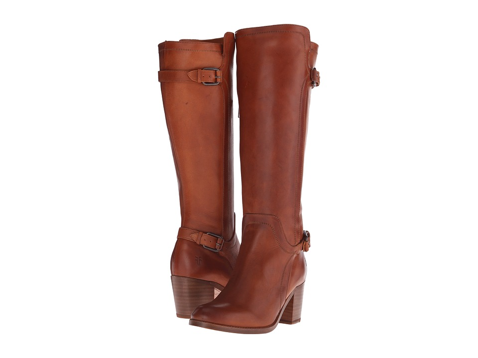 Frye - Janis Shield Tall (Cognac Smooth Vintage Leather) Cowboy Boots