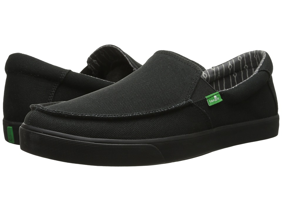 Sanuk - Sideline (Blackout) Men's Slip on Shoes