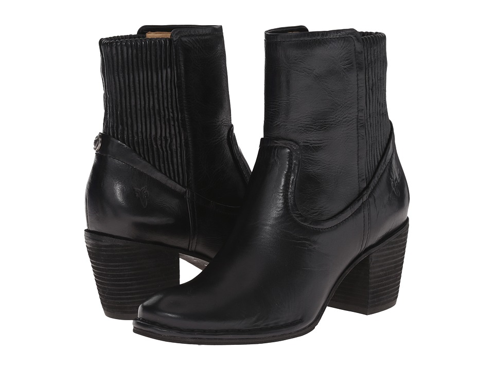 Frye - Lucinda Scrunch Short (Black Antique Pull Up) Cowboy Boots