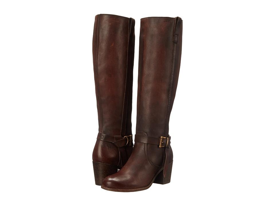 Frye Malorie Knotted Tall (Redwood Polished Stonewash) Cowboy Boots
