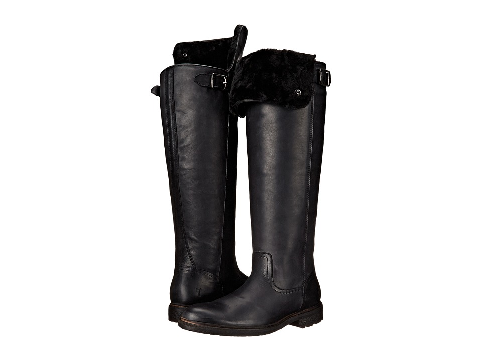 Frye Mara Button OTK (Black Soft Classic Leather) Cowboy Boots