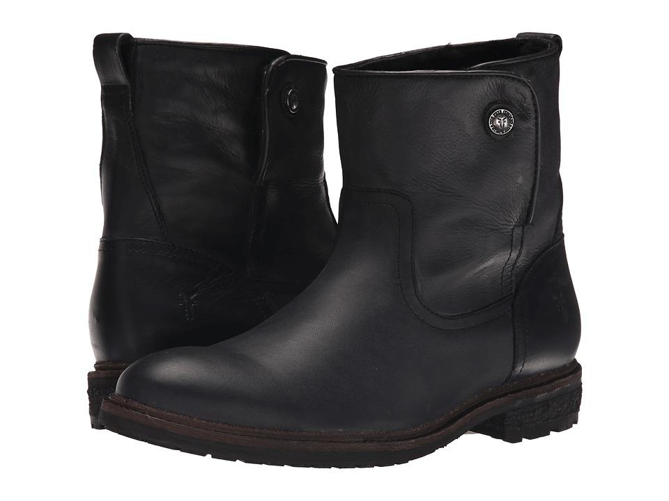 Frye - Mara Button Short (Black Soft Classic Leather) Cowboy Boots