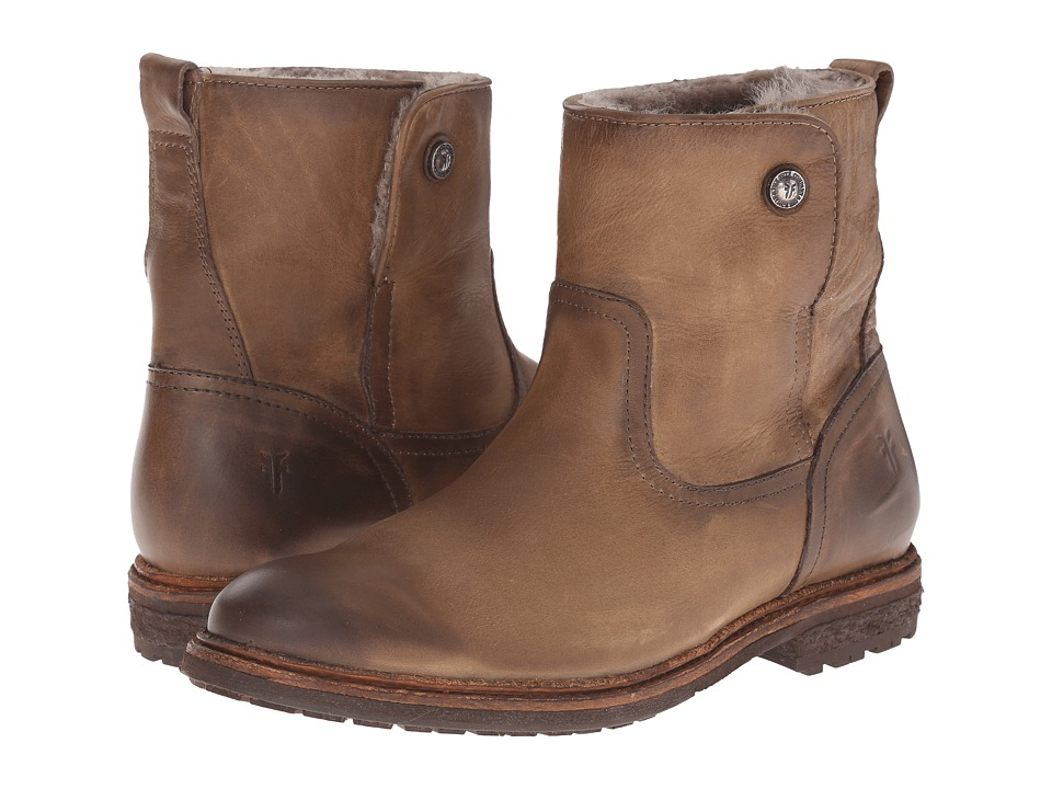 Frye - Mara Button Short (Fawn Soft Classic Leather) Cowboy Boots