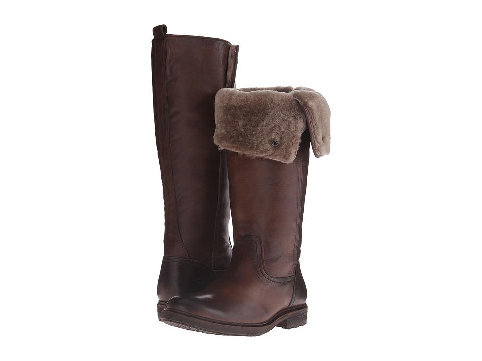 Frye Mara Button Tall (Dark Brown Soft Classic Leather) Cowboy Boots