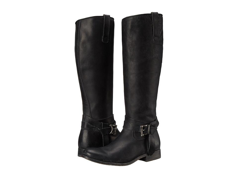 Frye - Melissa Knotted Tall (Black Polished Stonewash) Cowboy Boots