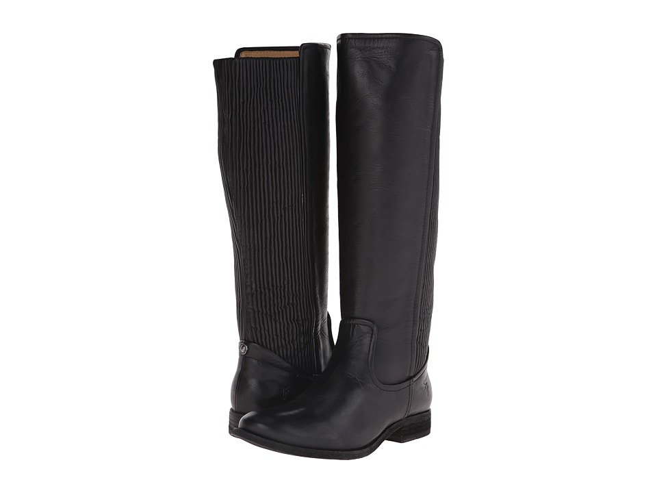 Frye - Melissa Scrunch (Black Antique Pull Up) Women's Pull-on Boots