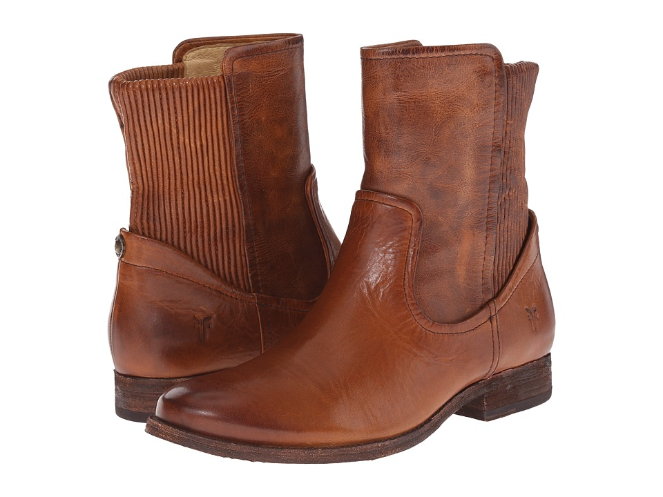 Frye - Melissa Scrunch Short (Cognac Antique Pull Up) Women's Pull-on Boots