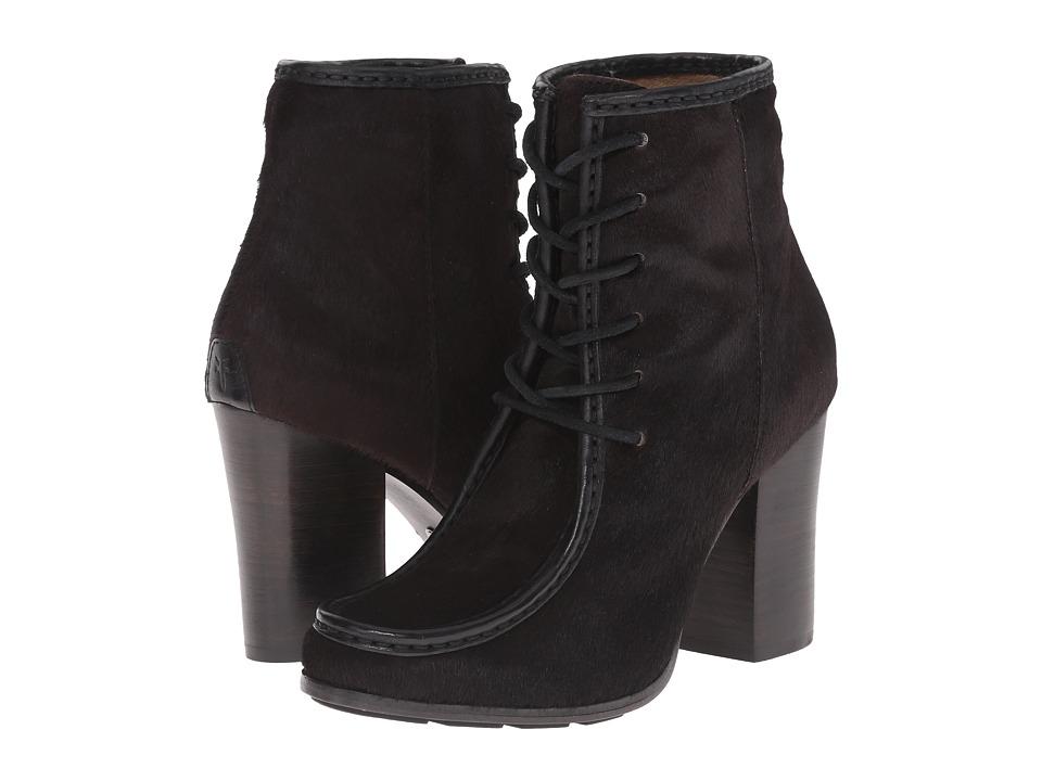 Frye - Parker Moc Short (Black Hair Calf/Tumbled Full Grain) Cowboy Boots