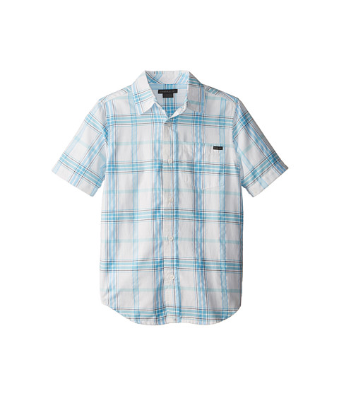 O'Neill Kids - Arcade Short Sleeve Woven Shirt (Big Kids) (Bright Blue) Boy's Short Sleeve Button Up