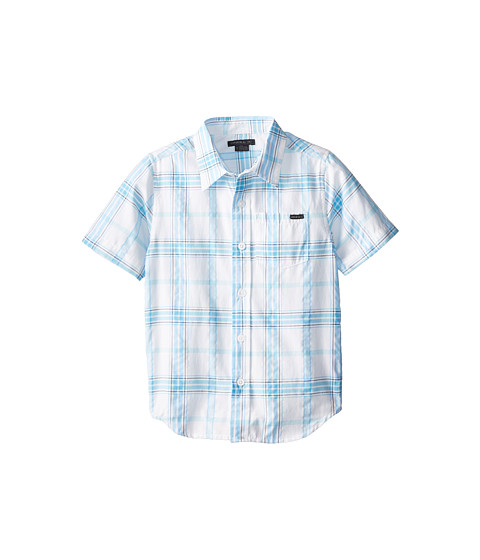 O'Neill Kids - Arcade Short Sleeve Woven Shirt (Little Kids) (Bright Blue) Boy's Short Sleeve Button Up
