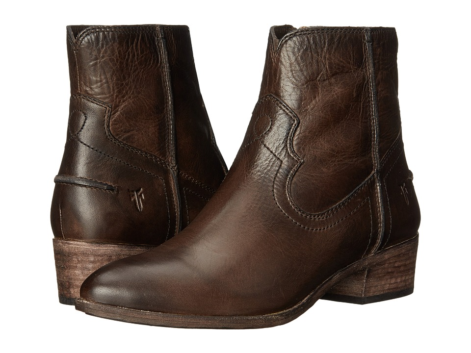 Frye Ray Seam Short (Slate Washed Antique Pull Up) Cowboy Boots