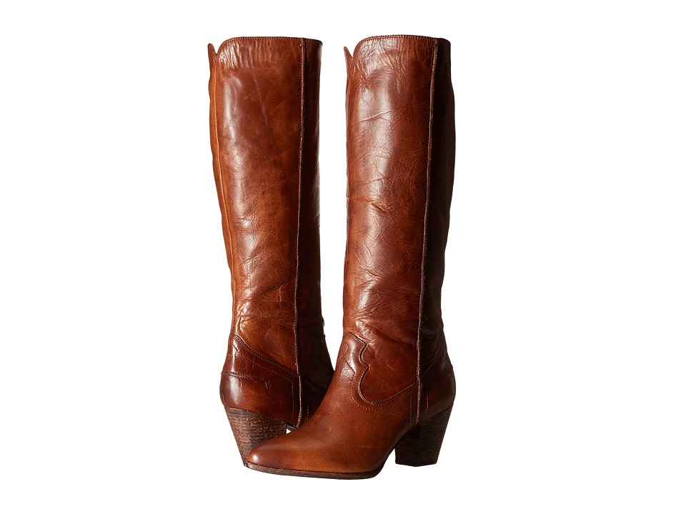 Frye - Renee Seam Tall (Cognac Washed Antique Pull Up) Cowboy Boots
