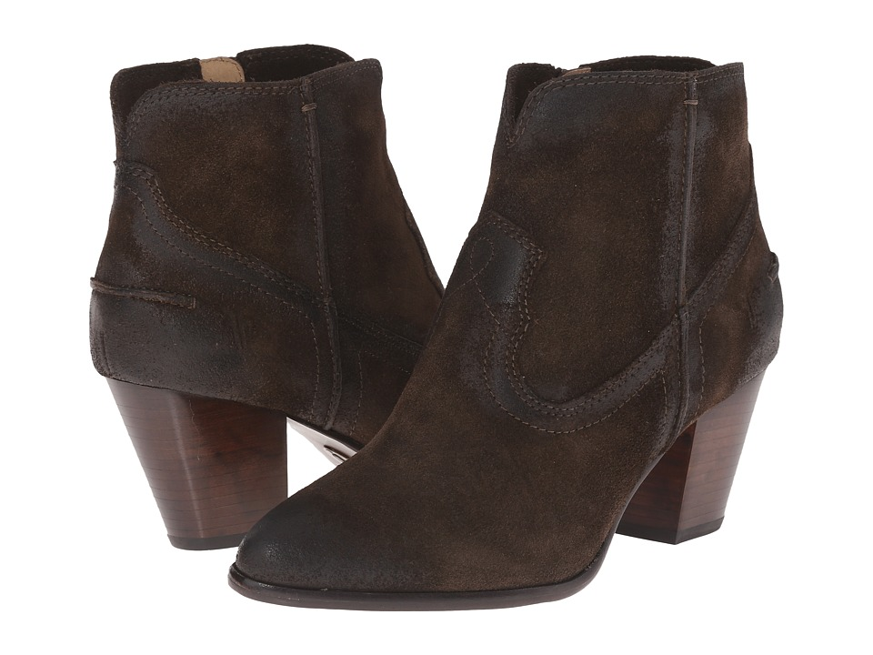 Frye Renee Seam Short (Fatigue Oiled Suede) Cowboy Boots