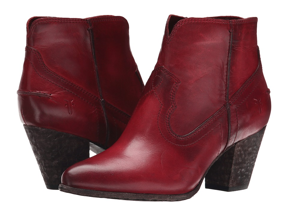 Frye Renee Seam Short (Burgundy Washed Antique Pull Up) Cowboy Boots