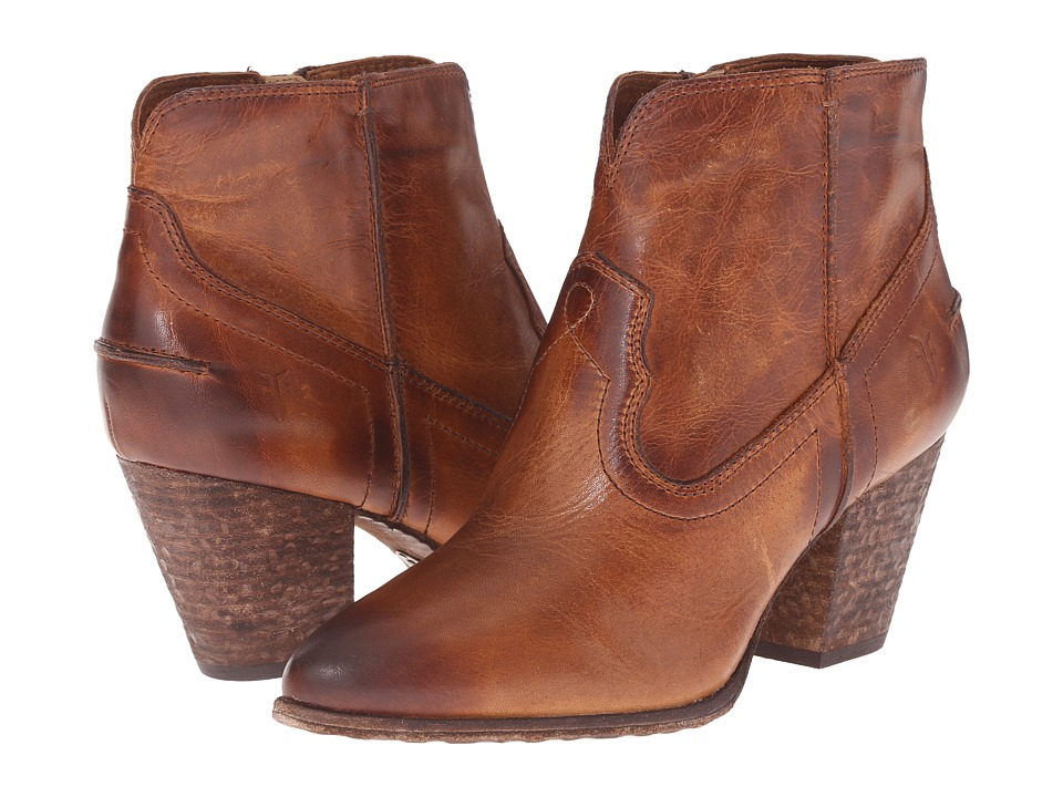 Frye - Renee Seam Short (Cognac Washed Antique Pull Up) Cowboy Boots